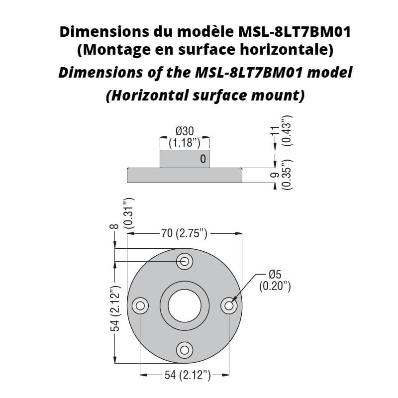Dimensions-horizontal-surface-mount