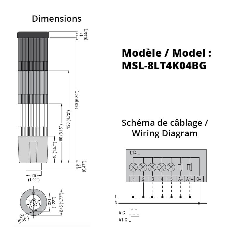 MSL-8LT4K04BG-Schemas