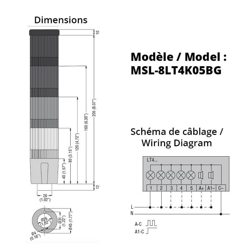 MSL-8LT4K05BG-Schemas