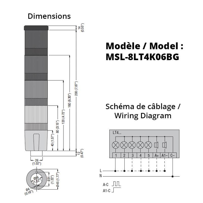 MSL-8LT4K06BG-Schemas