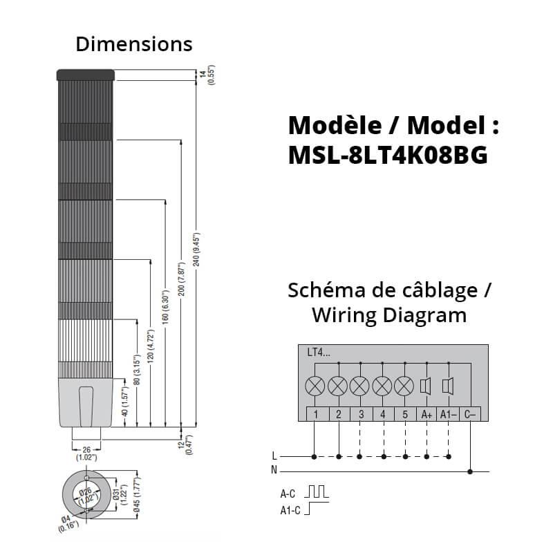MSL-8LT4K08BG-Schemas
