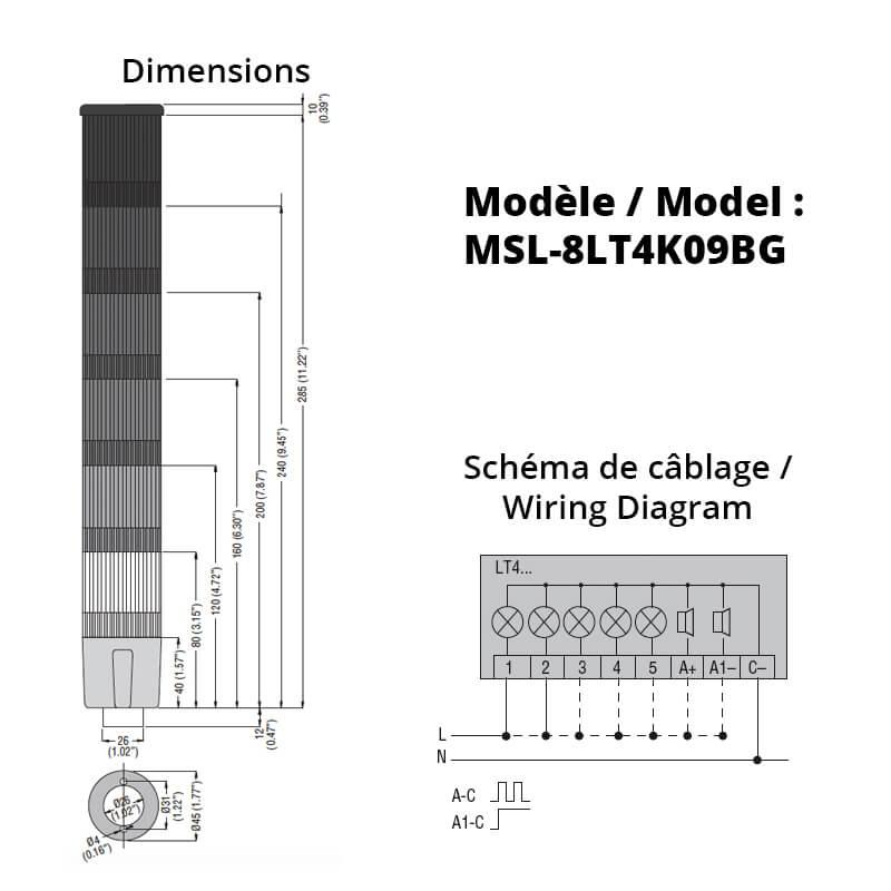 MSL-8LT4K09BG-Schemas